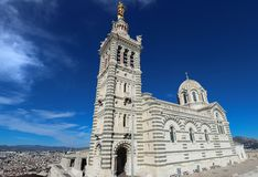 The historic church Notre Dame de la Garde of Marseille in South France .