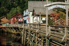 The famous historic Creek Street Ketchikan Alaska Stock Images