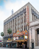 Famous Historic El Capitan Movie Theatre In Hollywood, California. Located on Hollywood Boulevard in the center of movie making and film capital of the world Stock Photo