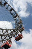 Famous and historic Ferris Wheel of Prater park, Vienna. Stock Photography