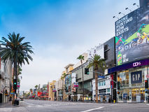 Famous Historic Hollywood Boulevard, California. Famous historic Hollywood Boulevard in Hollywood, California located in the center of the movie making and film Royalty Free Stock Image