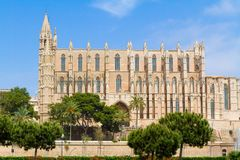 Balearic Islands Palma de Mallorca  famous historical La Seu Cat Stock Photos