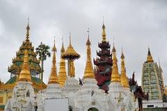 Famous and historic Shwedagon Pagoda in Yangon Stock Photos