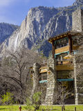 The famous historical Ahwahnee hotel Royalty Free Stock Photos