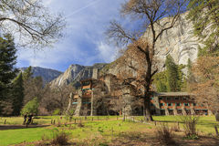 The famous historical Ahwahnee hotel at night Stock Images