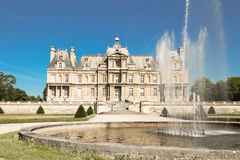 The famous historical castle of Maisons Laffitte, near Paris, France. Royalty Free Stock Photo