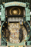 Famous historical figures clock in Vienna, Austria Royalty Free Stock Photography
