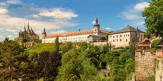 Famous historical panorama of Kutna Hora Stock Photos
