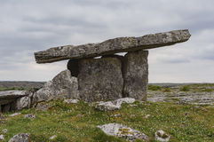 The famous and historical Poulnabrone Dolmen Stock Photography