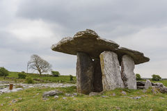 The famous and historical Poulnabrone Dolmen. At Burren, County Clare, Ireland Royalty Free Stock Photos