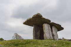 The famous and historical Poulnabrone Dolmen Royalty Free Stock Photos