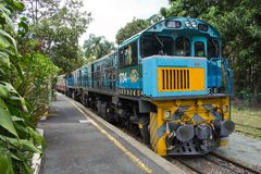 Australia, Queensland, Kuranda, Scenic Railway. Famous and historical Scenic Railway at Kuranda Station, Queensland, Australia royalty free stock photo