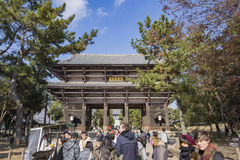 The famous and historical TodaiJi in Nara Park Stock Photos