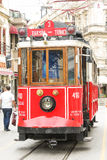 The famous historical tram in the center of Istanbul Stock Image