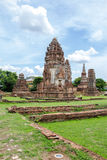 The famous history palace of Phra Narai at Lopburi. The famous history palace of Phra Narai is so beautiful at Lopburi, Thailand royalty free stock images