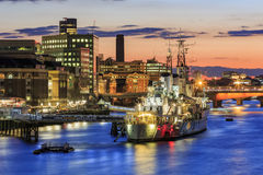 The famous HMS Belfast Stock Image