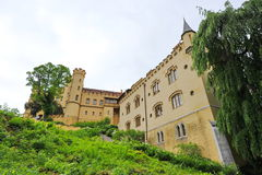Famous Hohenschwangau Castle on top of the hill Stock Photos