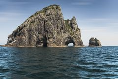 Famous Hole in the Rock, New Zealand stock image