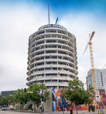 Famous Hollywood Capitol Records. Famous Hollywood Capital Records building designed in the shape of a round record album located on Vine Street in Hollywood Stock Images