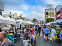 Famous Hollywood Outdoor Farmers Market Held Every Sunday Morning. Famous Sunday outdoor Hollywood Farmers Market located near Hollywood Boulevard and Vine Stock Images