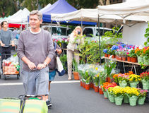 Famous Hollywood Outdoor Farmers Market Held Every Sunday Morning. Famous Sunday outdoor Hollywood Farmers Market located near Hollywood Boulevard and Vine Royalty Free Stock Image
