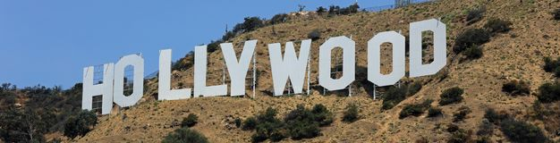 The famous Hollywood Sign on Mount Lee in Los Angeles Stock Images