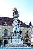 Famous Holy Trinity Column in Buda Castle royalty free stock images