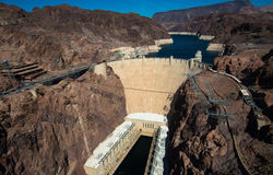 Famous Hoover Dam near Las Vegas, Nevada Stock Photography