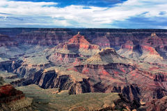 Famous horizontal view of Grand Canyon Royalty Free Stock Images