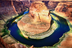 Famous Horse Shoe Bend Royalty Free Stock Photography