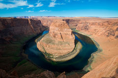 The famous horse shoe bend and Colorado River Royalty Free Stock Photos