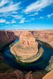 The famous horse shoe bend and Colorado River Royalty Free Stock Photography
