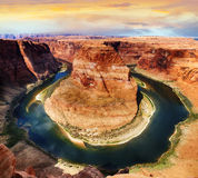 Famous Horse Shoe Bend Royalty Free Stock Image