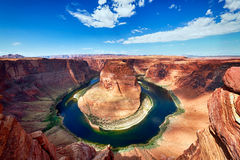 The famous Horseshoe Bend Stock Image