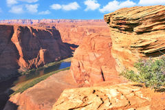 The famous Horseshoe bend Stock Photos