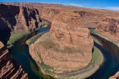 The famous Horseshoe Bend in Page Stock Photo