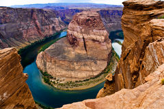 Horseshoe bend in page, Arizona Royalty Free Stock Photo