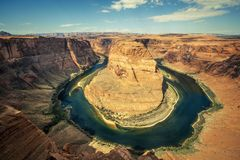 Famous Horseshoe bend Stock Images