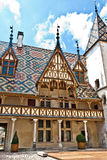 Famous hospice in Beaune. France Royalty Free Stock Images