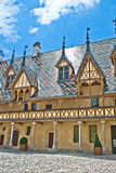 Famous hospice in Beaune. France Royalty Free Stock Photos