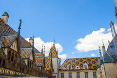 Famous hospice in Beaune Stock Photos
