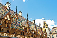 Famous hospice in Beaune Stock Photography