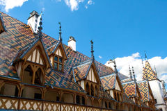 Famous hospice in Beaune, France. Famous old hospice in Beaune, France Stock Photo