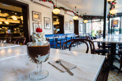 Famous Hot Fudge Sundae ice cream in Ghirardelli Square Royalty Free Stock Images