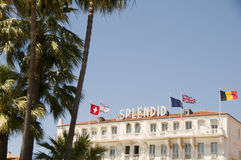 Famous hotel architecture Cannes France Royalty Free Stock Image