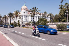 Famous Hotel Negresco at the Promenade des Anglais Stock Photo