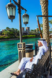 The famous hotel and tourist district of Madinat Jumeirah Royalty Free Stock Photos