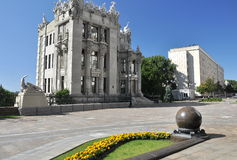 Famous House with Chimeras architect Gorodetsky Stock Images