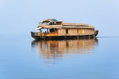 Famous houseboat on the Vembanad lac royalty free stock images