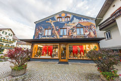 Famous houses of Oberammergau Stock Photos